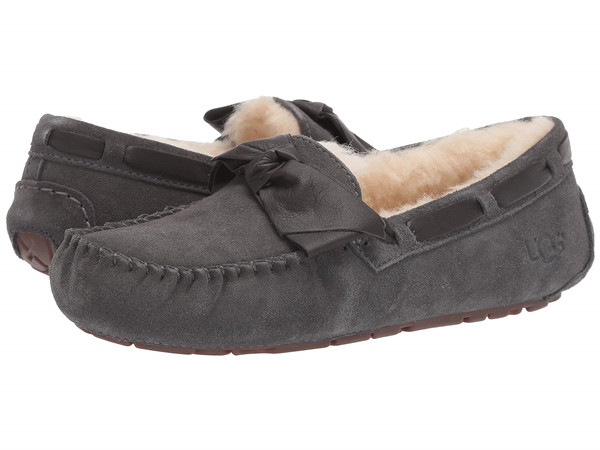 经典海淘:UGG 女士 Dakota Leather Bow 真皮平底鞋 64.99刀(46%OFF)