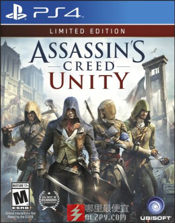 游戏海淘:Assassin's Creed Unity《刺客信条之大革命》PS4/Xbox One/PC美版游戏19.99刀(50%OFF)